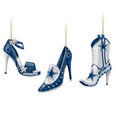 NFL Dallas Cowboys Steppin' Out Stiletto Shoe Ornament Collection - http://bradford-exchange.goshopinterest.com/apparel-accessories/womens-shoes/nfl-dallas-cowboys-steppin-out-stiletto-shoe-ornament-collection/