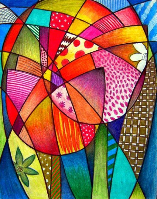 Tulipas  Lápis de cor sobre papel                                                                                                                                                                                 Mais