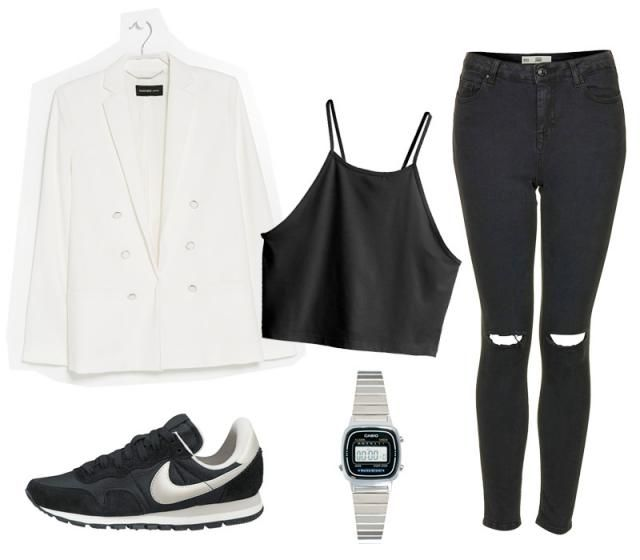 Witte blazer: Mango | Croptop: H&M | High waisted skinny jeans: Jamie jeans van Topshop | Horloge: Casio | Nike … Read More →