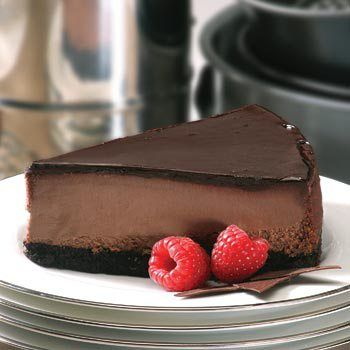 GF Chocolate cheesecake with nut crust