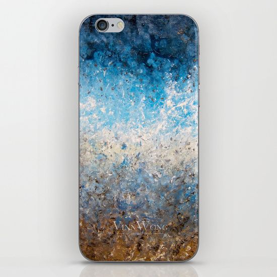 Deep blue and brown ocean abstract iPhone and iPod Skins by Vinn Wong | Full collection vinnwong.com | Visit the shop or Pin it For Later!