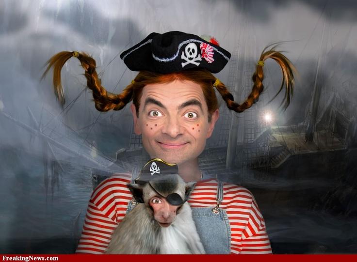 Mr Bean as Pippi Longstocking