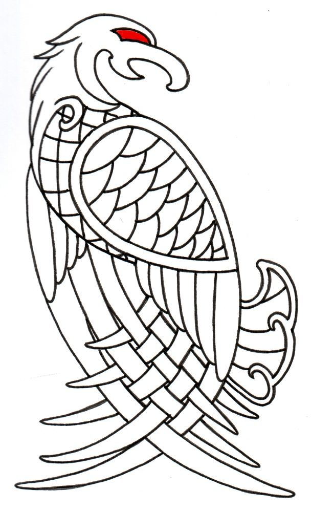 Viking Celtic Eagle Outline by vikingtattoo on deviantART