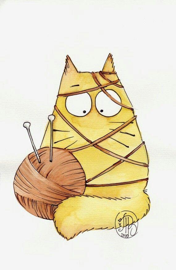 Кот рисунок прикольный