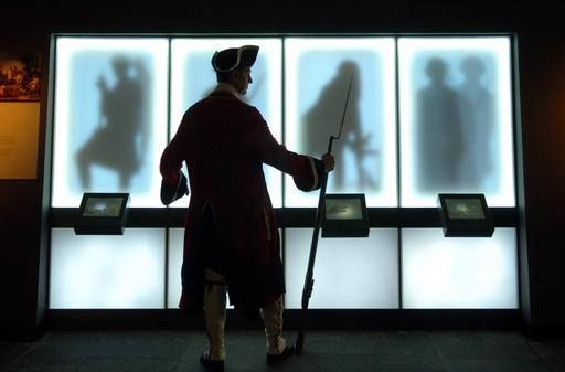 Character stations in the exhibition at Culloden Battlefield