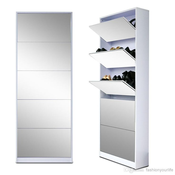 Full Length Wooden Shoe Storage Cabinet With 5 Drawers Full Mirror Living Room Furniture Made In China US Stock from Fashionyourlife,$212.57 | DHgate.com