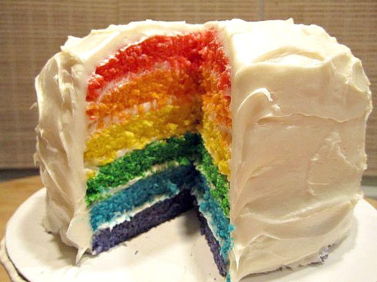 Rainbow Layer Birthday Cake | KITCHEN TESTED