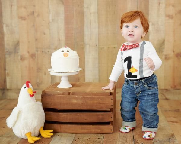 Farm Birthday Outfit For Boys 1st Chicken Cake Smash With Suspenders And Bow Tie