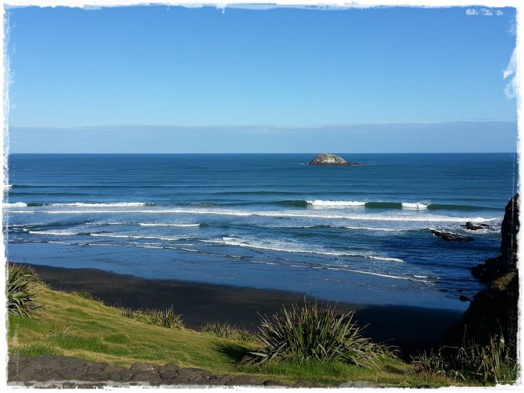 Maori Bay Surf - photo taken on a stunning day in early June 2014 by Hayden Brown just before a surf.  www.west-auckland-real-estate.co.nz