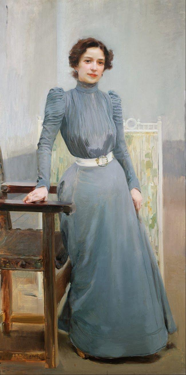 Clotilde de Sorolla (b.1865), née Clotilde Garcìa del Castillo, wife of the artist - Joaquín Sorolla y Bastida (1900)