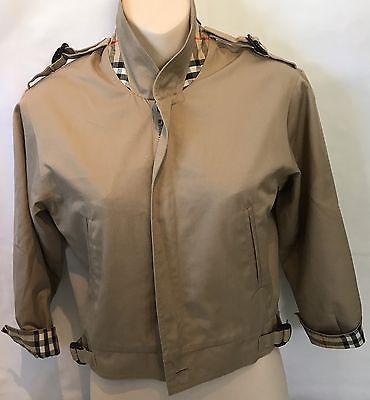 Boys Age 7/8 Burberrys Vintage Spring Jacket Novacheck Accents Zip Up Style  | eBay