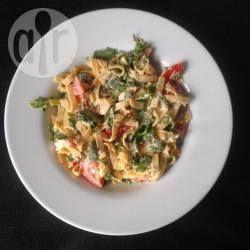 Lauwwarme geitenkaas rucola salade @ allrecipes.nl