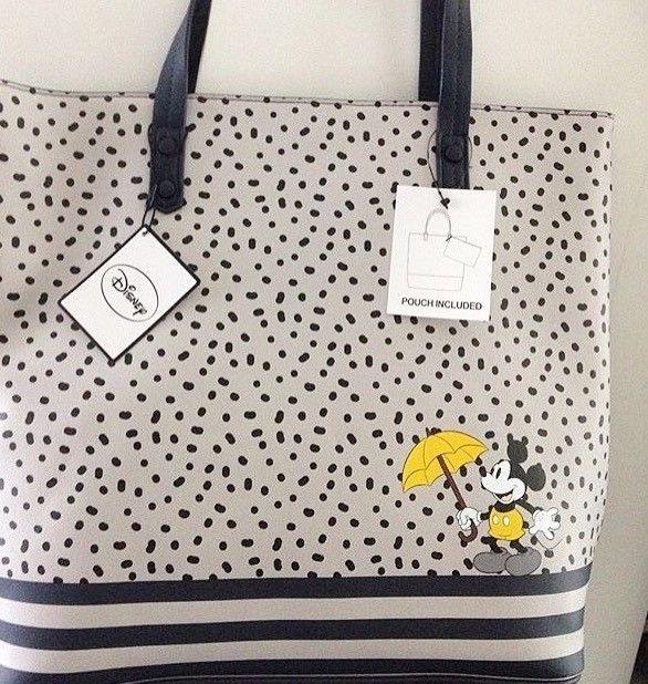 Primark DISNEY MICKEY MOUSE Tote Shopper Shoulder Bag and Pouch #Primark #Totes