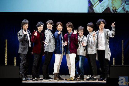 """skybluechocobo: """" Kamigami no Asobi event with the full cast: Yuki Kaji, Yoshimasa Hosoya, Daisuke Ono, Toshiyuki Toyonaga, Hiroshi Kamiya, Miyu Irino, Toshiyuki Morikawa, Yuuto Uemura (source) """""""