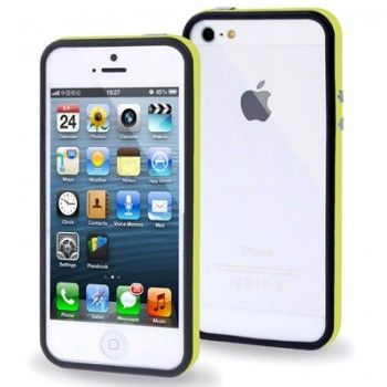 iPhone 5/5S Cases : 2-color Bumper Frame for iPhone 5 & 5s - Yellow