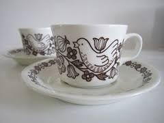 Arabia Finland, Finnish Flint, Sirkku, Coffee cups