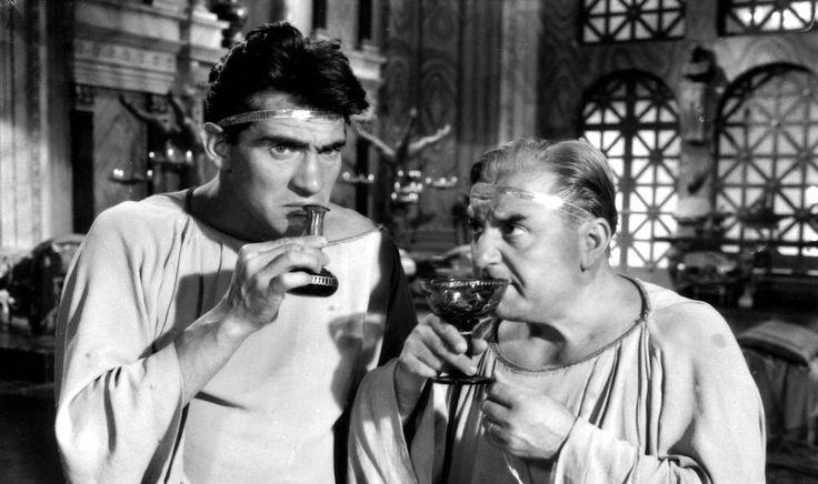 """Walter Chiari and Carlo Campanini in Mario Soldati's """"O.K. Nerone"""" (English title: """"O.K. Nero!"""", 1951)."""