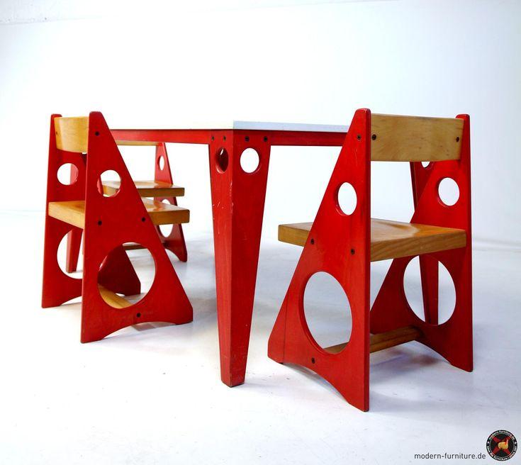 1950s constructivist style childrens furniture set ✭ mid century vintage kids furniture