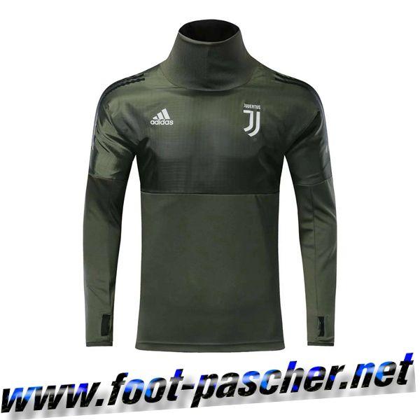 Juventus Sweatshirt Training Foot Verte Haut Armee Magasin Col 2017 OwiukZTlPX