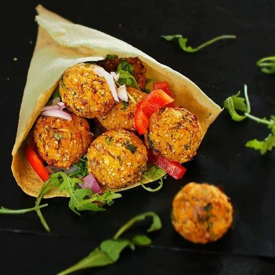 Falafels de patate douce au four