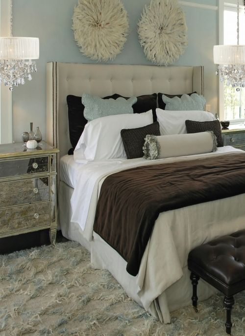 The Decorista-Domestic Bliss: INSPIRED: hanging light fixtures in the bedroom