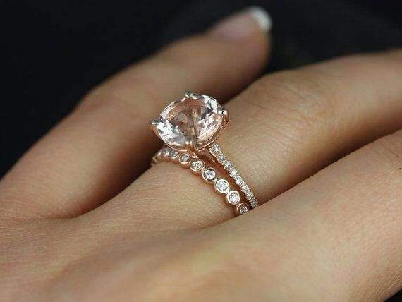 Rose gold round cut solitaire engagement ring. Just perfect.