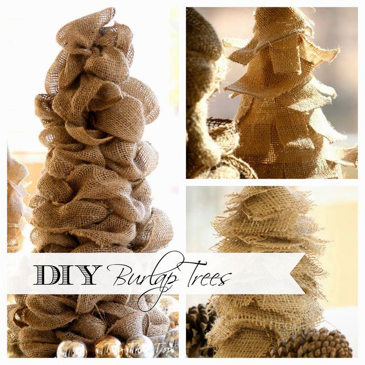DIY Burlap Tree #2 - Duke Manor Farm