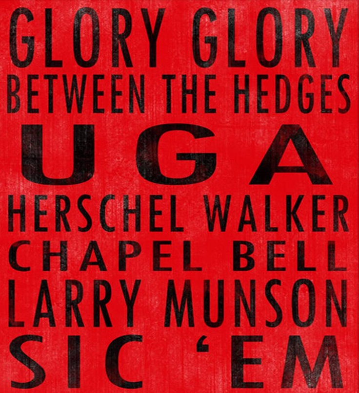 University of Georgia Bulldogs art board