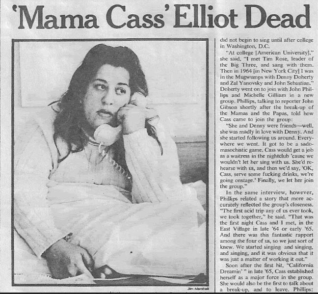 Cass Elliot Vintage Concert Photo Fine Art Print