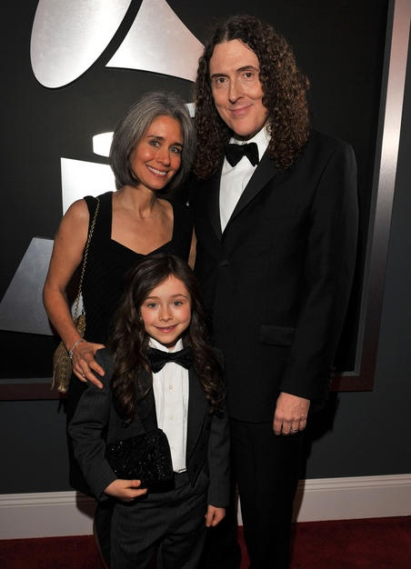 Suzanne Krajewski with husband Weird Al Yankovic and daughter Nina