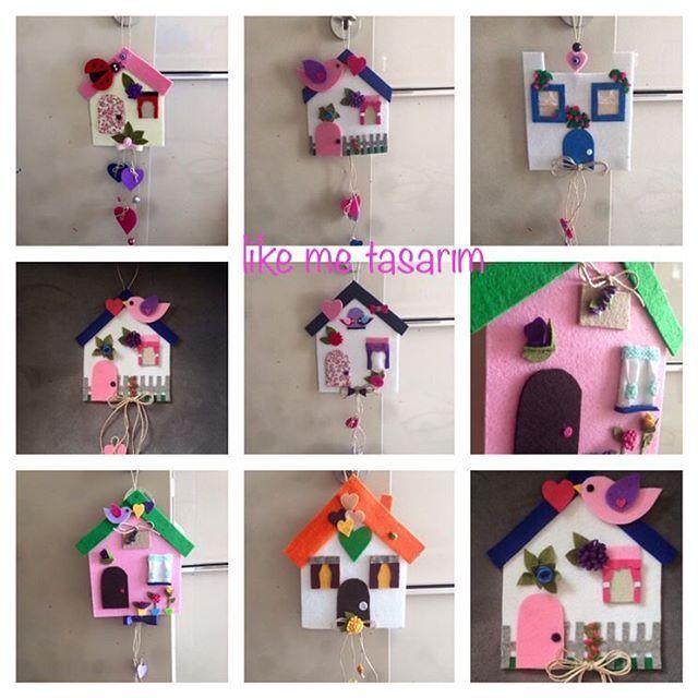 Daha önce yapmış olduğum tasarım evler �� #tasarım #ev #elemeği #elyapımı #hediyelik #hediye #keçe #keçeev #renk#felt#handmade #çiçek #kuş #bahçe ������ http://turkrazzi.com/ipost/1524508353626136474/?code=BUoJEU7AF-a