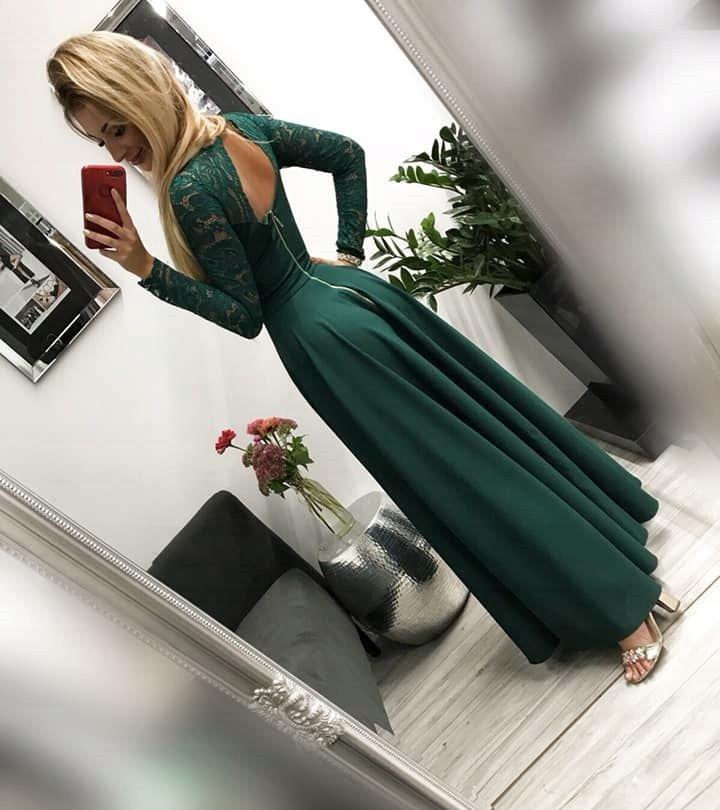 Kira2 Zielona Dluga Sukienka Z Koronkowa Gora M 7638572910 Allegro Pl Wiecej Niz Aukcje Dresses Formal Dresses Long Fashion