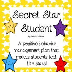 FREE Secret Star Student! Are you looking for a positive behavior management strategy that helps motivate students to do their best? Secret Star Student is a great way to motivate and encourage students to engage in positive behaviors.