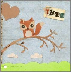 Kaartmix Geboortekaartjes jongen baby tree boom papier leuk birth announcement boy geboortekaartje geboortekaarten babykaart fox paper kraft vosje