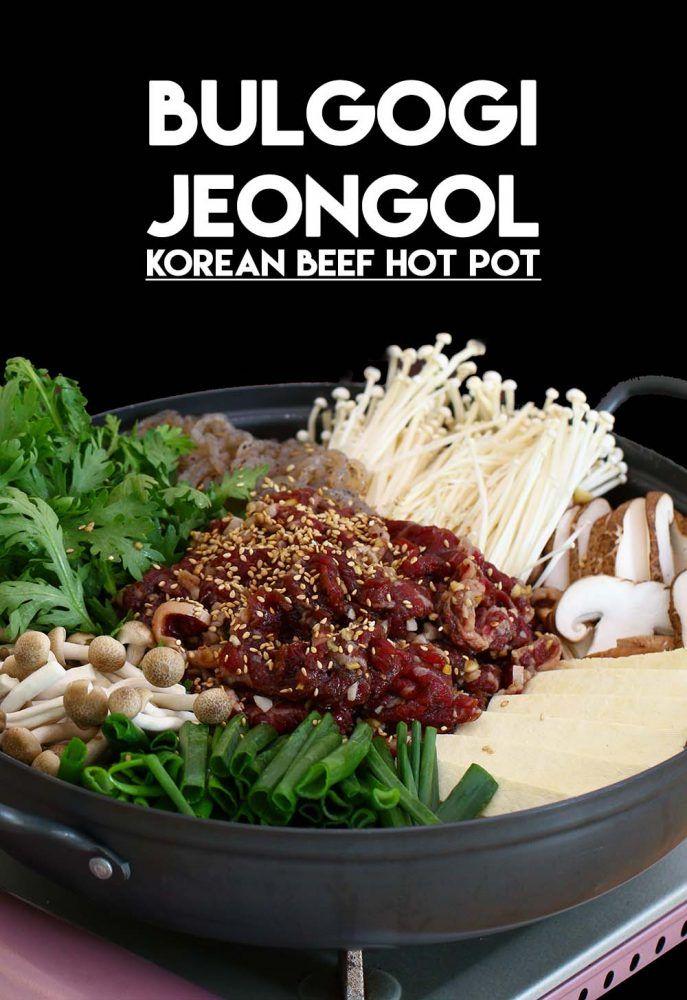 Korean Beef Hot Pot Bulgogi Jeongol Recipe Video Seonkyoung Longest Recipe Hot Pot Recipe Bulgogi Recipe Bulgogi