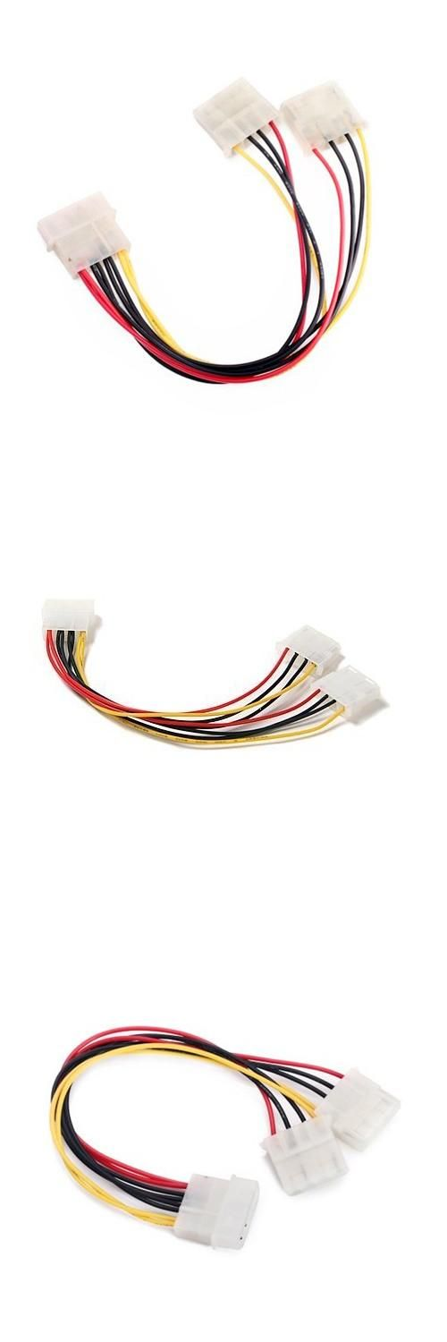 [Visit to Buy] 5pcs/lot New 8 inch Computer Molex 4 Pin Power Supply Y Splitter Cable #Advertisement