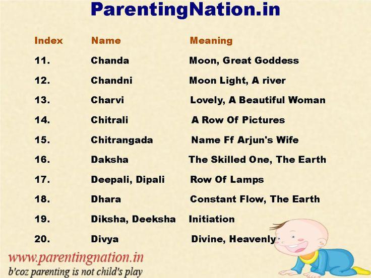 Sanskrit baby names girl