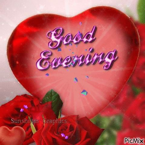 PicMix GIF Good Morning | Good Evening Red Heart GIF - PicMix