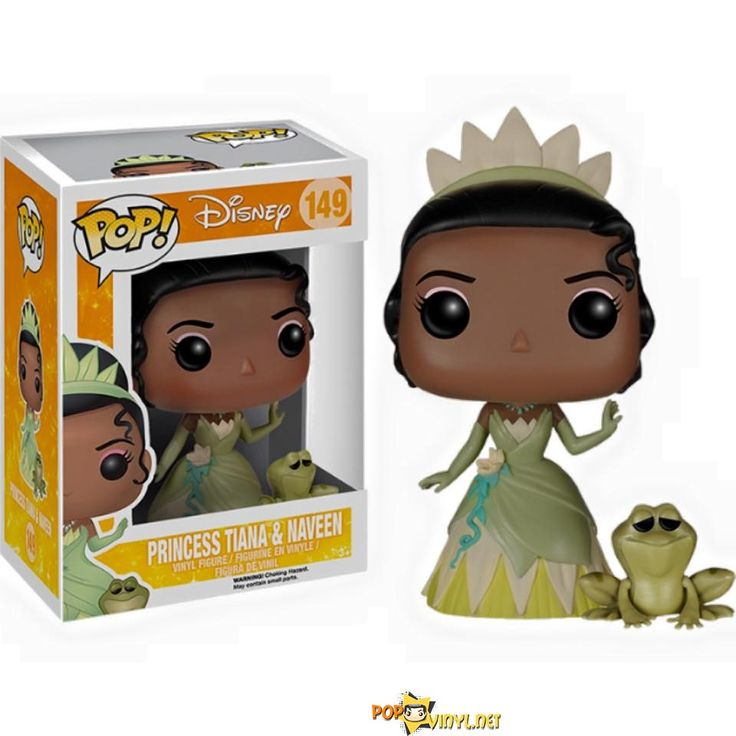 Disney's Princess and the Frog; Princess Tiana & Prince Naveen(Frog Form) FUNKO POP!