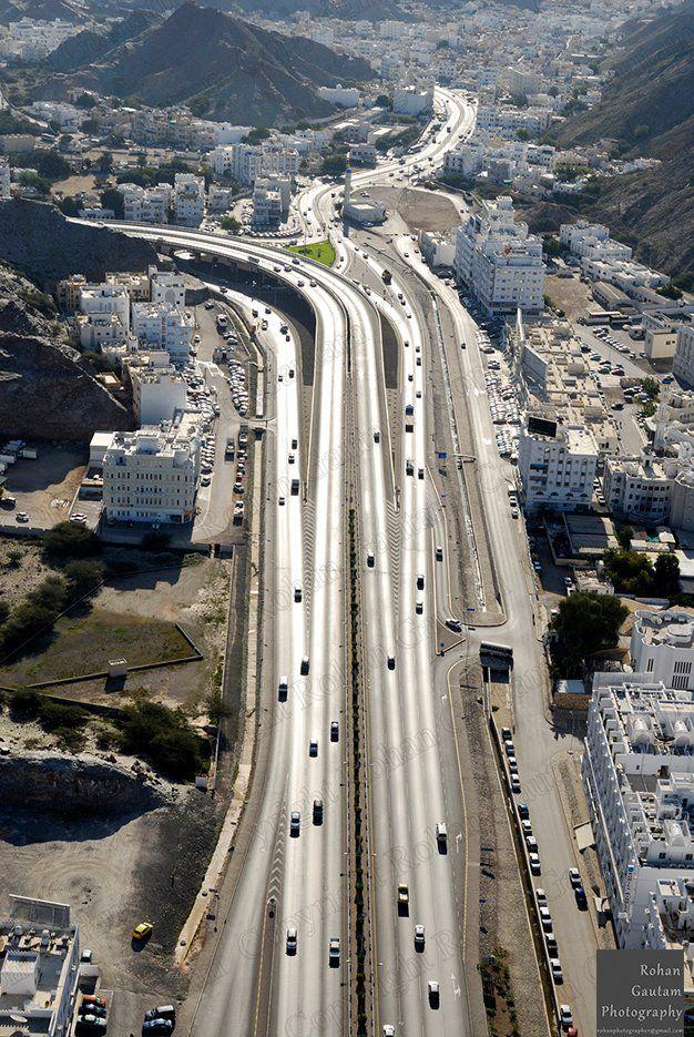 Oman | Muscat from Above. credit: Rohan Gautam. view on Fb https://www.facebook.com/SinbadsOmanPocketGuide #Oman #TravelToOman #SinbadPocketGuide