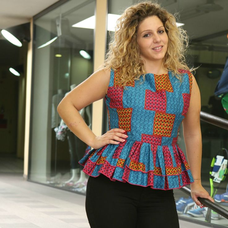 Limited quantity available!Sleeveless peplum blouse http://shop.modafricana.com/products/sleeveless-peplum-blouse-1