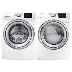 Samsung 4.2 cu. ft. Front-Load Washer & 7.5 cu. ft. Front-Load Dryer Bundle