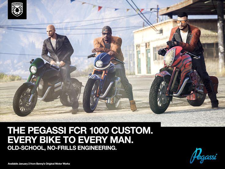 Rockstar Games Social Club - New Pegassi FCR 1000 Motorcycle & Vehicle Vendetta Mode Plus GTA Online Bonuses