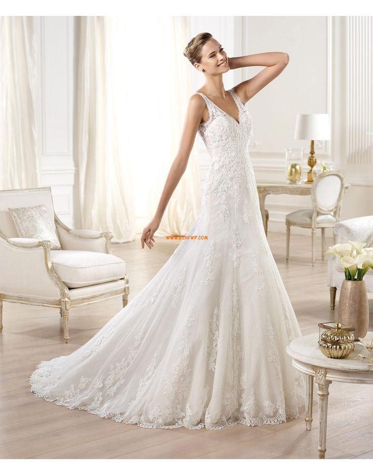 Kyrka V-ringad Naturlig Bröllopsklänningar 2014