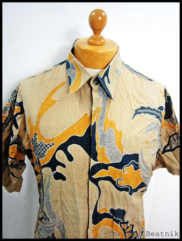 Vintage 1980s 80s Rockabilly Hawaiian Disco Indie Men's Shirt Large | eBay