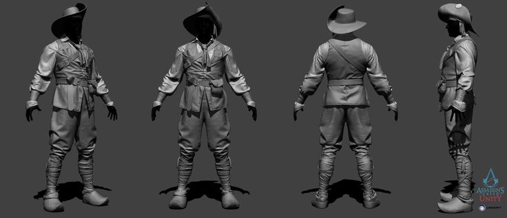Assassin's Creed Unity - NPC ally - ZBrush, Vince Rizzi on ArtStation at http://www.artstation.com/artwork/assassin-s-creed-unity-npc-ally-zbrush