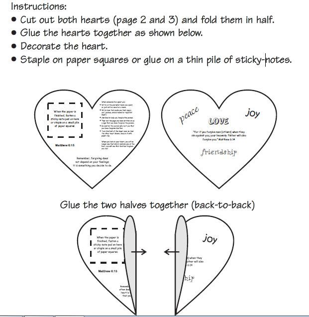 Teach children forgiveness and heart of Jesus using this heart craft