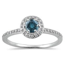 in Sapphire: 14K White, Carat Diamonds, Carat Blue, Diamonds Rings, White Diamonds, White Gold, Blue And White, 1 2 Carat, Engagement Rings