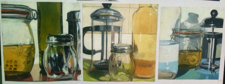 School art board :: oil. Photorealism :: inspired by Ralph Goings