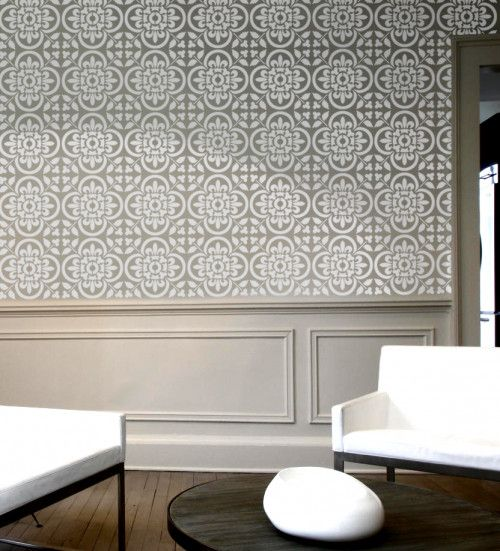 NEW! Wall Stencil - Moroccan Tile Pattern no. 4 - Reusable wall stenci